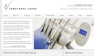 Makeover for dental surgery design company in Sussex, Surrey and Kent